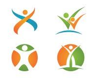 Vida de la salud y logotipo de la diversión Imagen de archivo libre de regalías