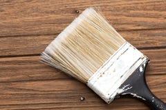 Vida de madera de la teca del fondo del equipo de la herramienta de las brochas aún Fotografía de archivo