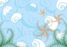 Vida de mar. Fundo. Imagens de Stock Royalty Free