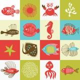 vida de marina stock de ilustración