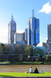 Vida de Melbourne do rio de Yarra Fotos de Stock