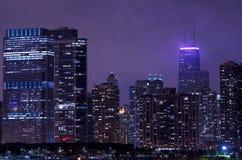 Vida de noche Chicago fotos de archivo libres de regalías