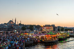 Vida de noche de Estambul Imagen de archivo libre de regalías