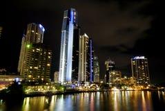 Vida de noche de Gold Coast Imágenes de archivo libres de regalías