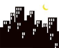 Vida de noche de la ciudad Stock de ilustración