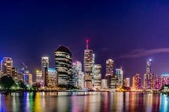 Vida de noche de la ciudad de Brisbane Fotos de archivo