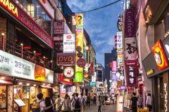 Vida de noche de Seul Imagen de archivo libre de regalías