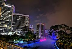 Vida de noche en Kuala Lumpur foto de archivo
