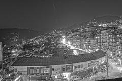 Vida de noche en la ciudad de Gangtok, Sikkim, la India imagen de archivo