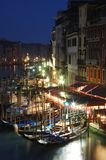 Vida de noite de Veneza, Italy Foto de Stock