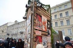 A vida de rua do projeto. Cartazes soviéticos da guerra. Imagens de Stock Royalty Free