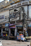 Vida de rua em Deli velha, Índia Imagens de Stock