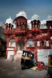 Vida de rua (mulher pobre com crianças) em Jodhpur, Rajasthan, Índia fotografia de stock royalty free