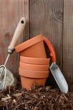 Vida de Stilll de los utensilios de jardinería Fotografía de archivo