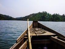 vida de um barqueiro fotografia de stock