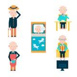 Vida de um homem na aposentadoria Foto de Stock Royalty Free