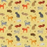 Vida de un gato stock de ilustración