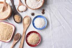 Vida del arroz y todavía de los granos Fotos de archivo
