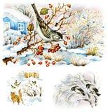 Vida del invierno de la naturaleza ilustración del vector