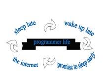 Vida del programador divertida Stock de ilustración