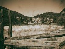 Vida del rancho, opinión del vintage Imagen de archivo