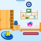 Vida del sitio de cama de bebé foto de archivo libre de regalías