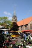 VIDA DIARIA DE LAS COMPRAS EN FLENSBURG-FLENSBORG foto de archivo