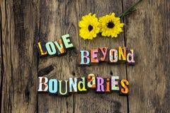 A vida do amor além das regras ajustadas dos limites vive imagem de stock royalty free