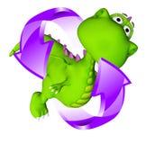 Vida do bebê do círculo do bebê do dragão de Dino Imagem de Stock