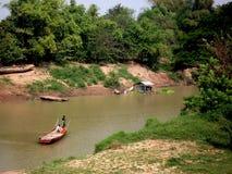 Vida do beira-rio, província do homem poderoso de Kompong foto de stock royalty free