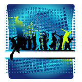 Vida do clube, dança dos povos Imagens de Stock Royalty Free