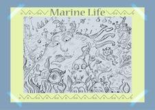 A vida do mar Ilustração do vetor Mundo imaginário Fotos de Stock