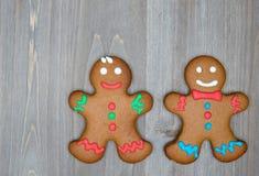 A vida do Natal ainda com as cookies tradicionais do pão-de-espécie corteja sobre Fotos de Stock