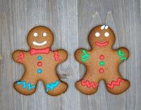 A vida do Natal ainda com as cookies tradicionais do pão-de-espécie corteja sobre Fotografia de Stock
