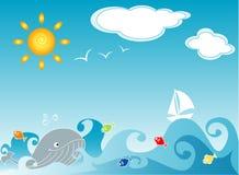Vida do oceano Foto de Stock Royalty Free