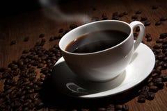 Vida do peitoril do café com xícara de café Fotografia de Stock