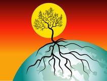 Vida do sol e do glob ilustração royalty free