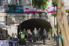 Vida do túnel e de rua de Landport imagem de stock