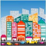 Vida do tráfego da rua do carro dos povos de cidade Imagem de Stock Royalty Free