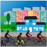 Vida do tráfego da rua do carro dos povos de cidade Imagem de Stock