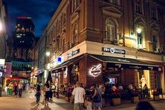 Vida do verão da rua em Sarajevo Foto de Stock