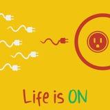 A vida do vetor está no plano Imagens de Stock