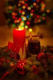 Vida doméstica acogedora de la Navidad aún Foto de archivo