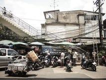 Vida dos povos em Banguecoque Fotografia de Stock Royalty Free