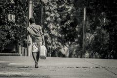 Vida dura da caminhada Fotografia de Stock