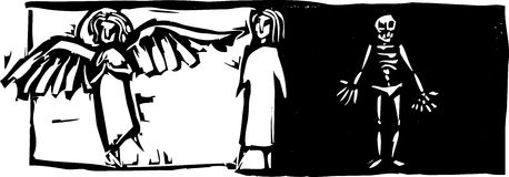 Vida e morte ilustração stock