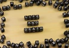 A vida e a morte da palavra imagens de stock royalty free