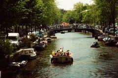 Vida em Amsterdão, Países Baixos Fotos de Stock Royalty Free