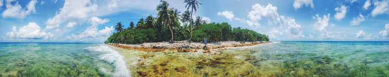 Vida em maldives Foto de Stock Royalty Free