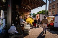 Vida em uma cidade turca pequena Fotografia de Stock